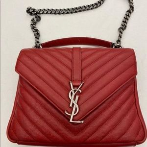 YSL college bag medium red